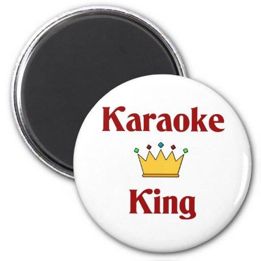 Karaoke King Refrigerator Magnets