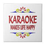 Karaoke Makes Life Happy Ceramic Tiles