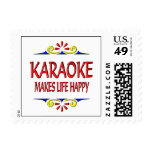 Karaoke Makes Life Happy Postage