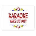 Karaoke Makes Life Happy Postcard
