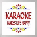Karaoke Makes Life Happy Posters