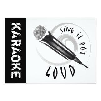 Karaoke Microphone Sing it out LOUD Card