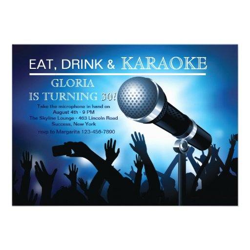 201+ Karaoke Party Invitations, Karaoke Party ...