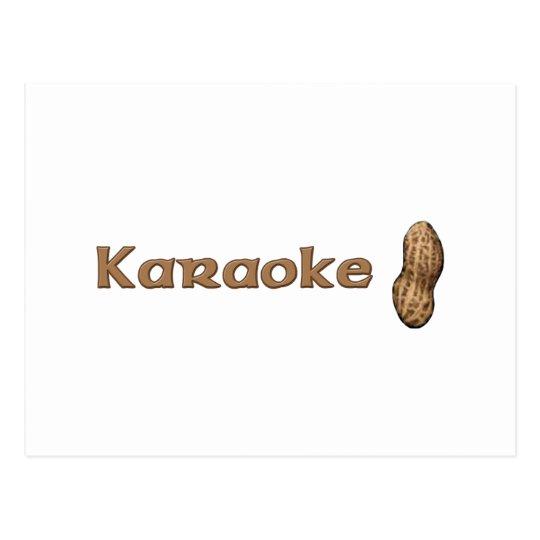 Karaoke Nut Postcard