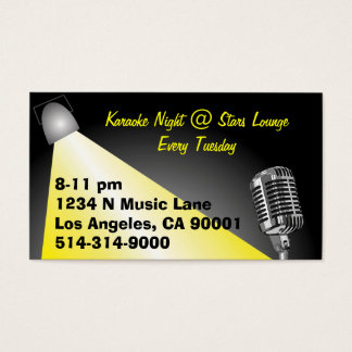 Karaoke/ Open Mic Night Business Card