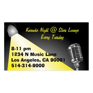 Karaoke/ Open Mic Night Business Card Template