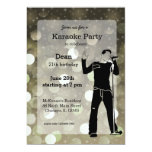 Karaoke party 5x7 paper invitation card