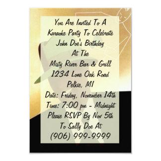 Karaoke Party clubbing Night Out Invite Invitation