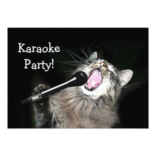 Personalized Karaoke Invitations – Karaoke Party Invitation