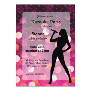 Karaoke party invitations announcements zazzle karaoke party invitation stopboris Image collections