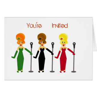 Karaoke Party Invitations Stationery Note Card