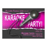 Karaoke Party Night 5x7 Paper Invitation Card
