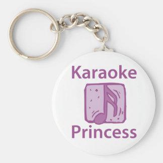 Karaoke Princess Basic Round Button Keychain