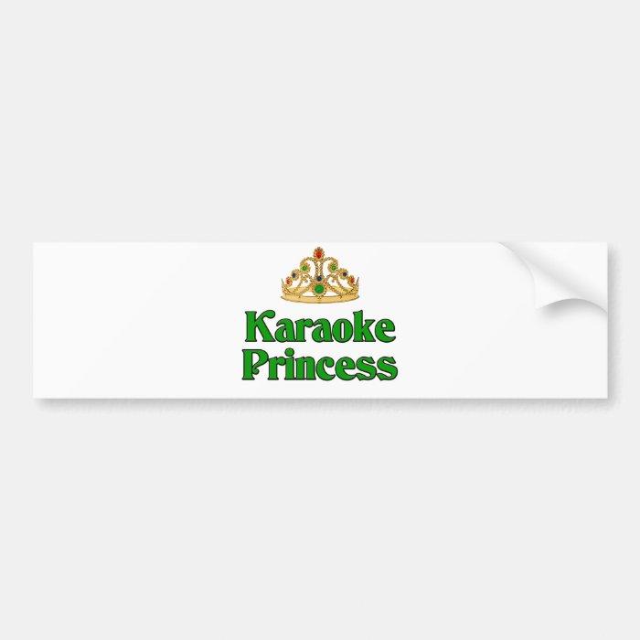 Karaoke Princess Bumper Sticker