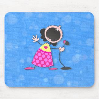 karaoke queen-blue mouse pad