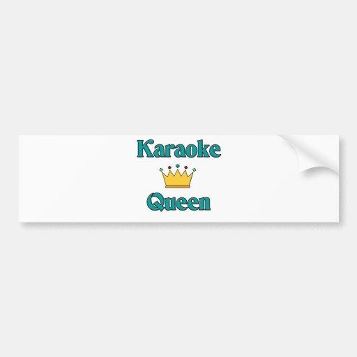 Karaoke Queen Car Bumper Sticker