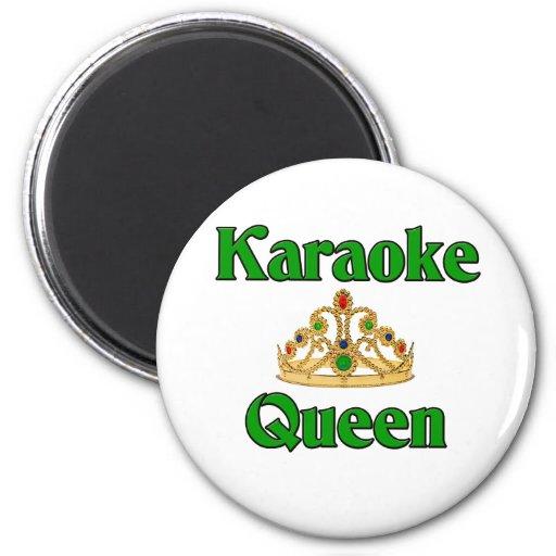 Karaoke Queen Fridge Magnets