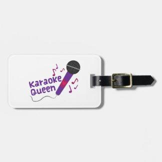 Karaoke Queen Travel Bag Tags