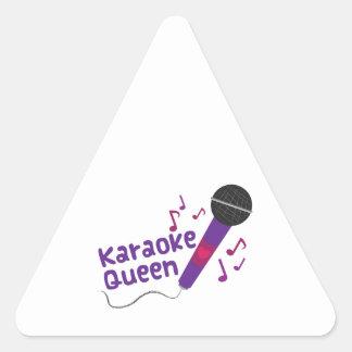 Karaoke Queen Triangle Sticker