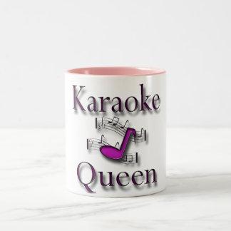 Karaoke Queen Two-Tone Coffee Mug