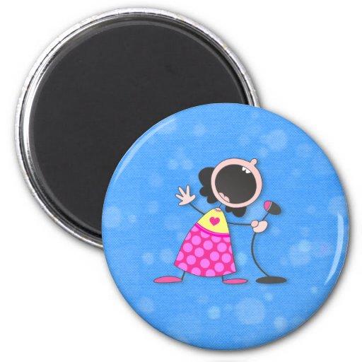 Karaoke reina-azul imán redondo 5 cm