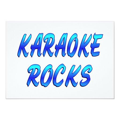 KARAOKE ROCKS 5X7 PAPER INVITATION CARD
