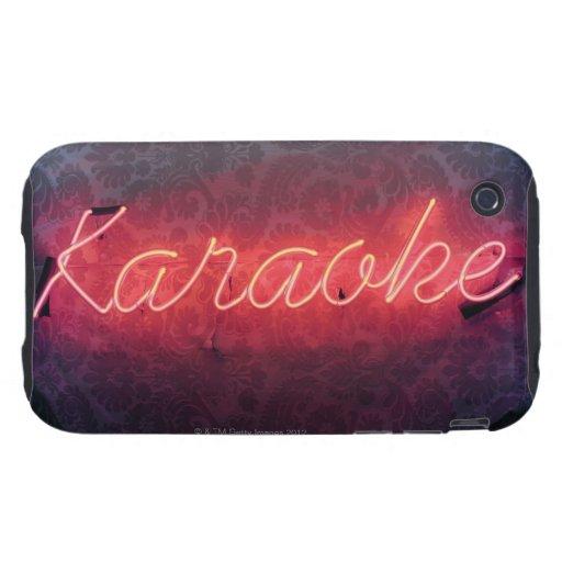 Karaoke Sign Tough iPhone 3 Case