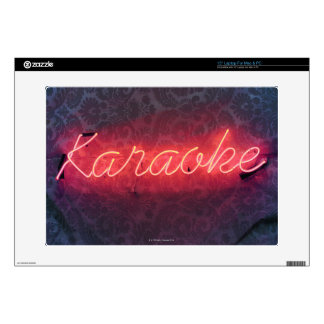 "Karaoke Sign Decal For 15"" Laptop"