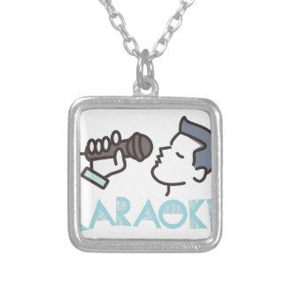 Karaoke Silver Plated Necklace