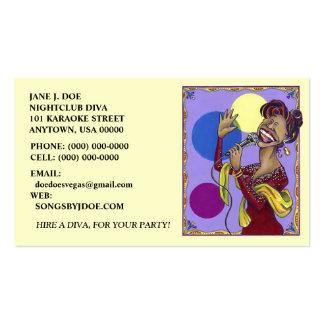 KARAOKE SING SINGING PARTY DIVA BUSINESS CARD