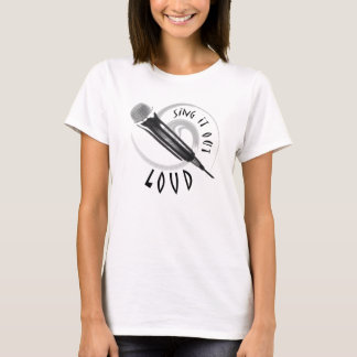 Karaoke Singer or Musical Act - Microphone Design T-Shirt