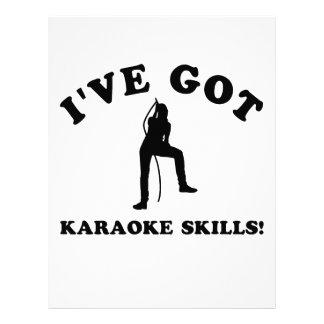 karaoke skill gift items letterhead