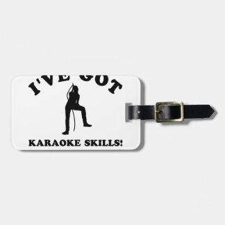 karaoke skill gift items luggage tags