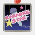 karaoke star christmas tree ornaments