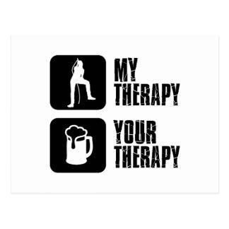 Karaoke therapy designs postcard