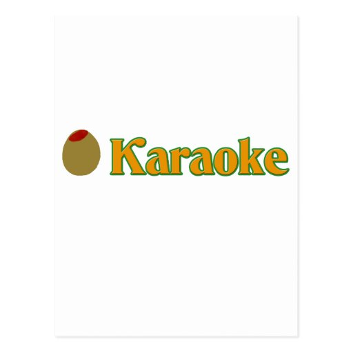 (Karaoke verde oliva del amor de I) Tarjetas Postales