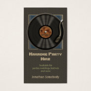 Karaoke Vinyl Record Logo Business Cards at Zazzle