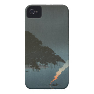 Karasaki Pines at Night - Japanese Woodblock Print iPhone 4 Case-Mate Case
