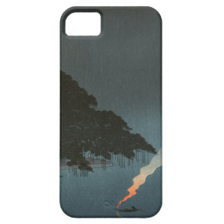 Karasaki Pines at Night - Japanese Woodblock Print iPhone SE/5/5s Case