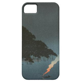 Karasaki Pines at Night - Japanese Woodblock Print iPhone SE/5/5s Case