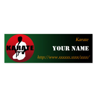 KARATE 01 Double-Sided MINI BUSINESS CARDS (Pack OF 20)