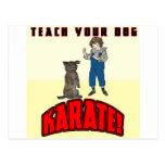 Karate 1 del perro tarjeta postal