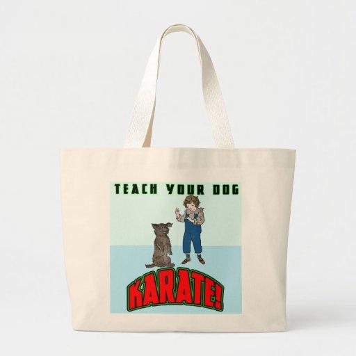 Karate 2 del perro bolsa lienzo