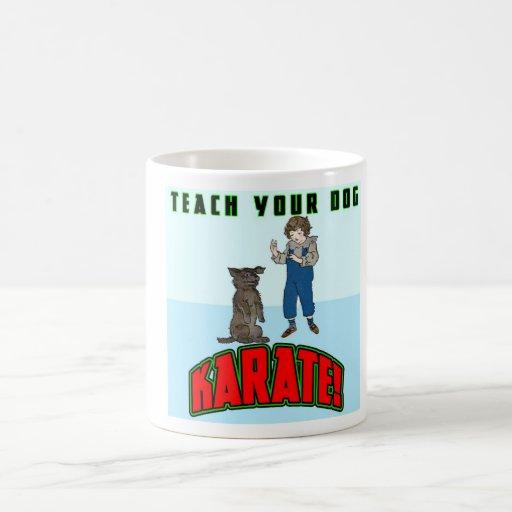 Karate 2 del perro tazas de café
