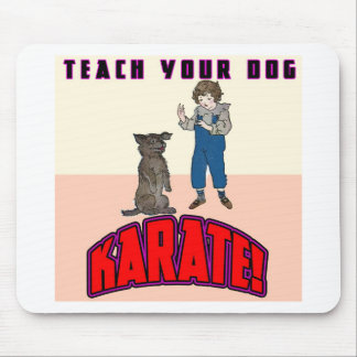 Karate 3 del perro mouse pad