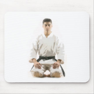 Karate a rack on a lap mousepad