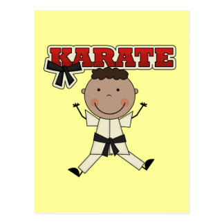 KARATE - African American Boy Tshirts and Gifts Postcard