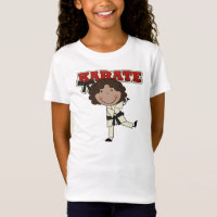 KARATE - African  American Girl T-shirts and Gifts