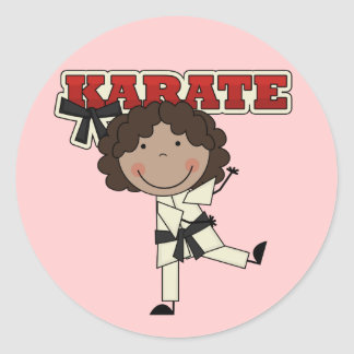 KARATE - African  American Girl T-shirts and Gifts Classic Round Sticker