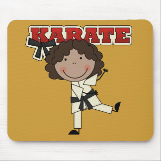 KARATE - African  American Girl T-shirts and Gifts Mouse Pad